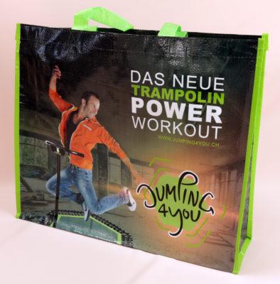Tasche mit Power Workout Aufdruck 10574 1086